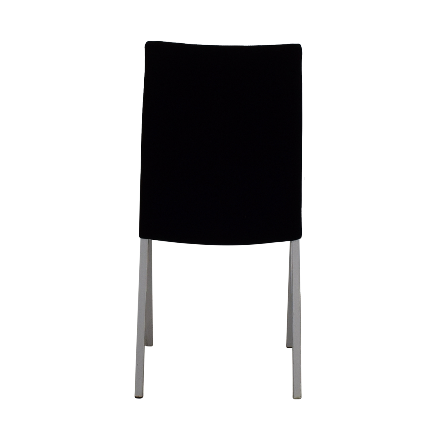 shop Modern Metal and Black Plush Fabric Chair Accent Chairs