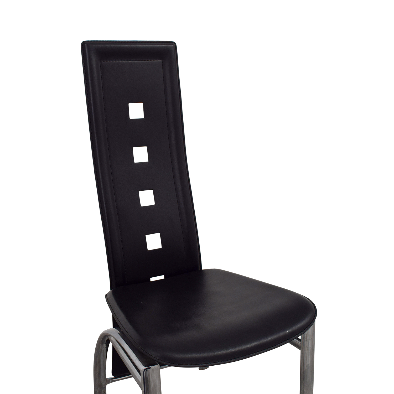 86 Off Unkown Metal And Black High Back Dining Chair