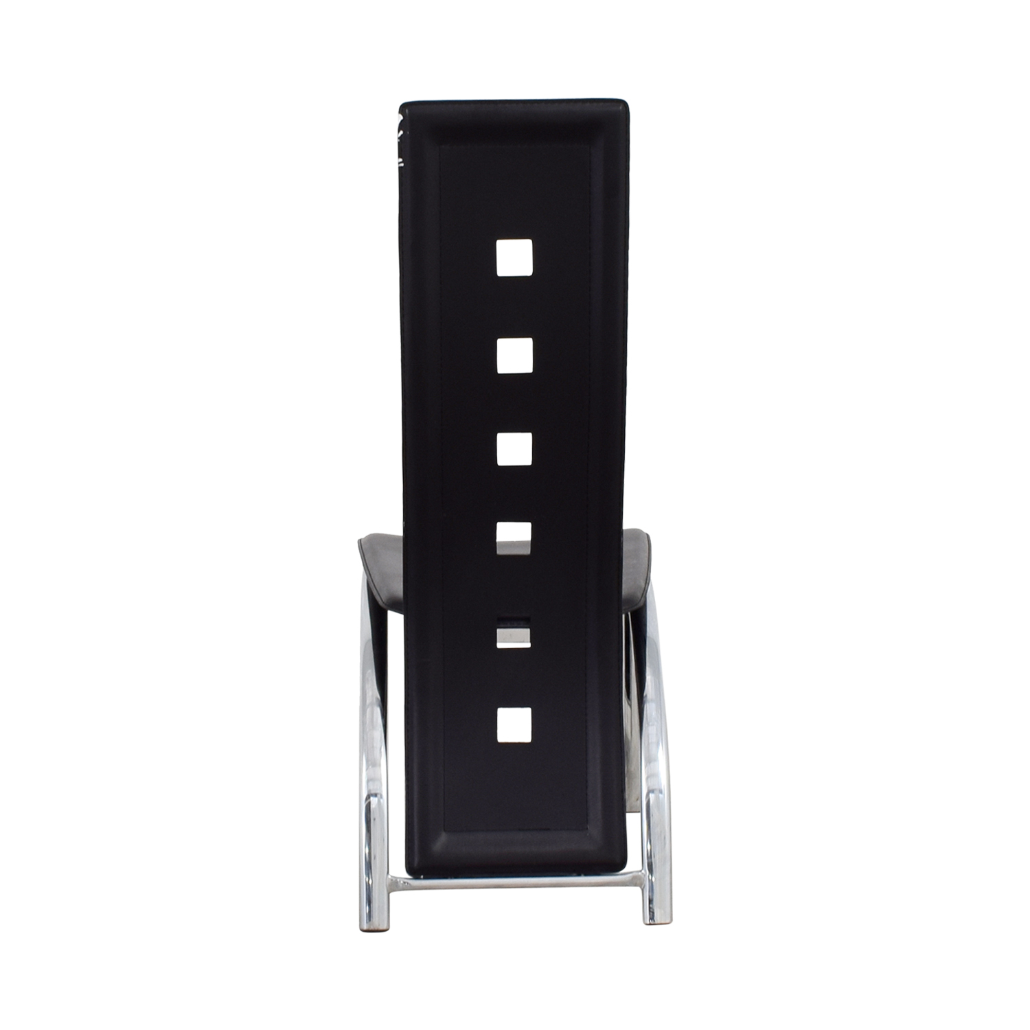 Unkown Metal and Black High Back Dining Chair