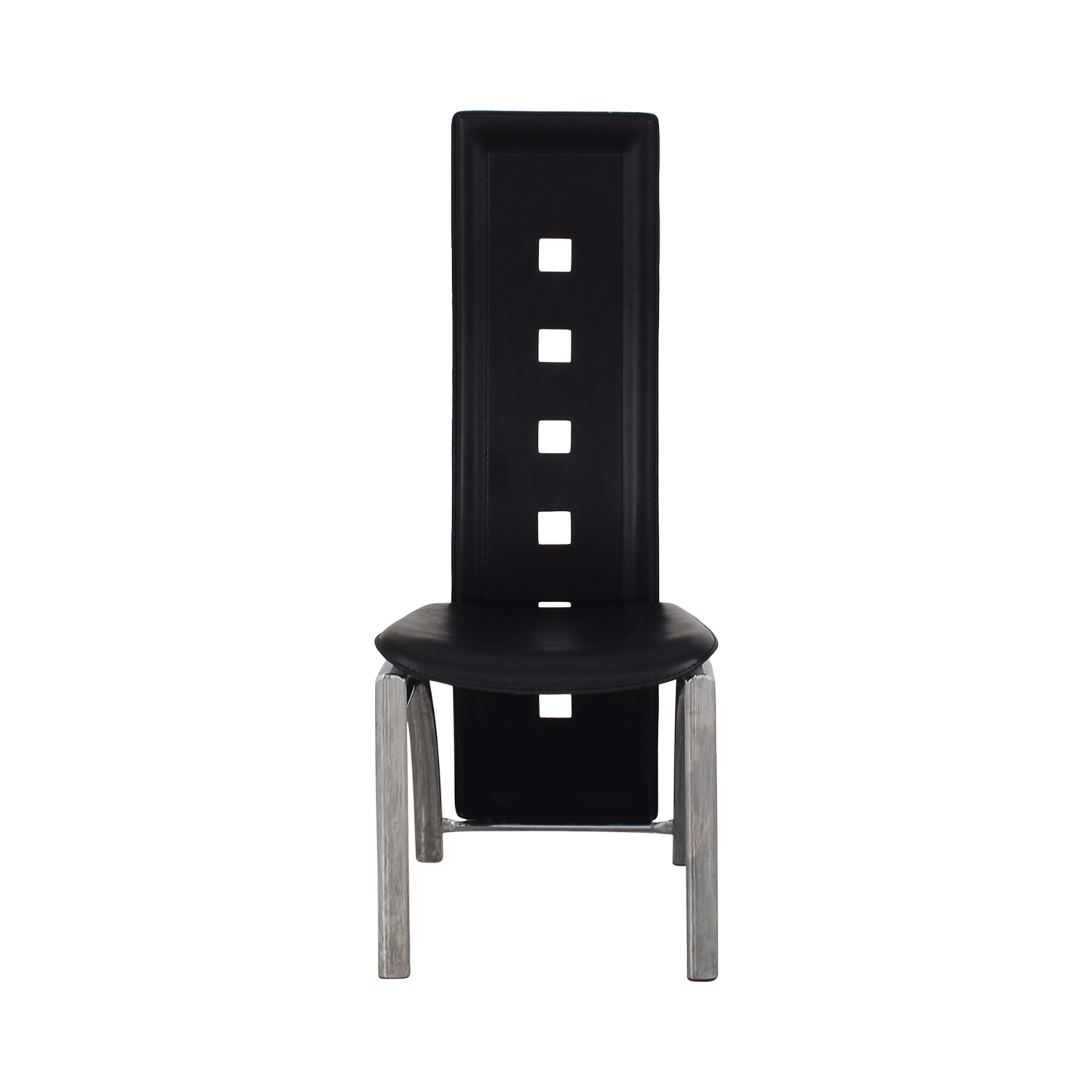Metal and Black High Back Dining Chair Unkown