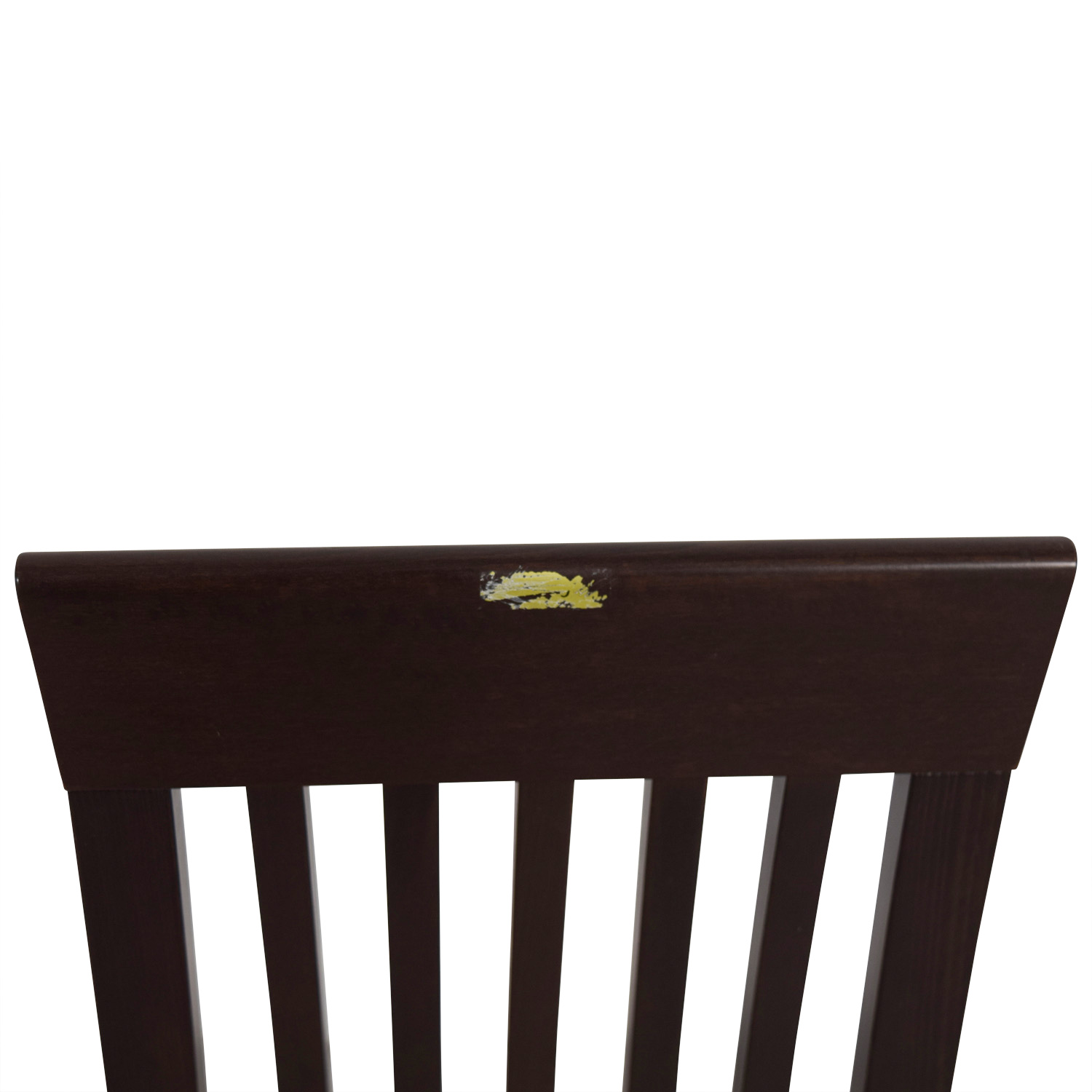 Wood Vertical Slat Back with Tan Cushioned Chair Chairs
