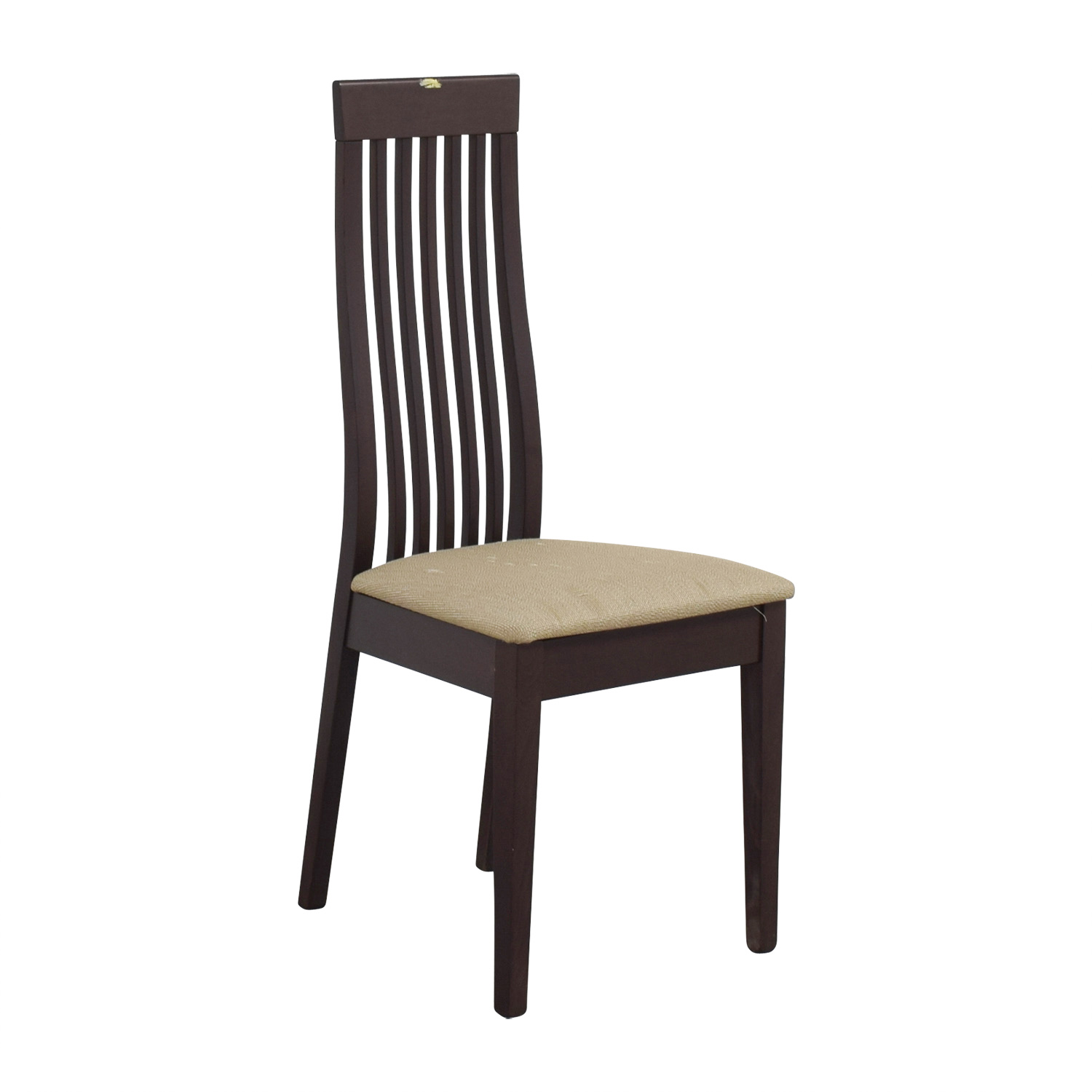High Quality ... Buy Wood Vertical Slat Back With Tan Cushioned Chair Online ...