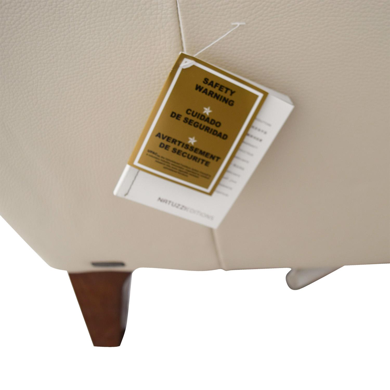 buy Raymour & Flanigan Natuzzi Editions Beige Leather Two-Cushion Sofa Raymour & Flanigan