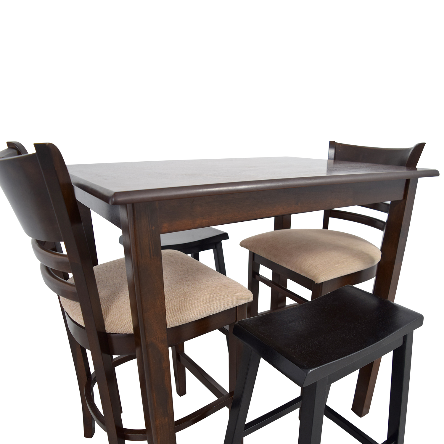 buy Simple Bar Table with Two Chairs and Two Stools Dining Sets