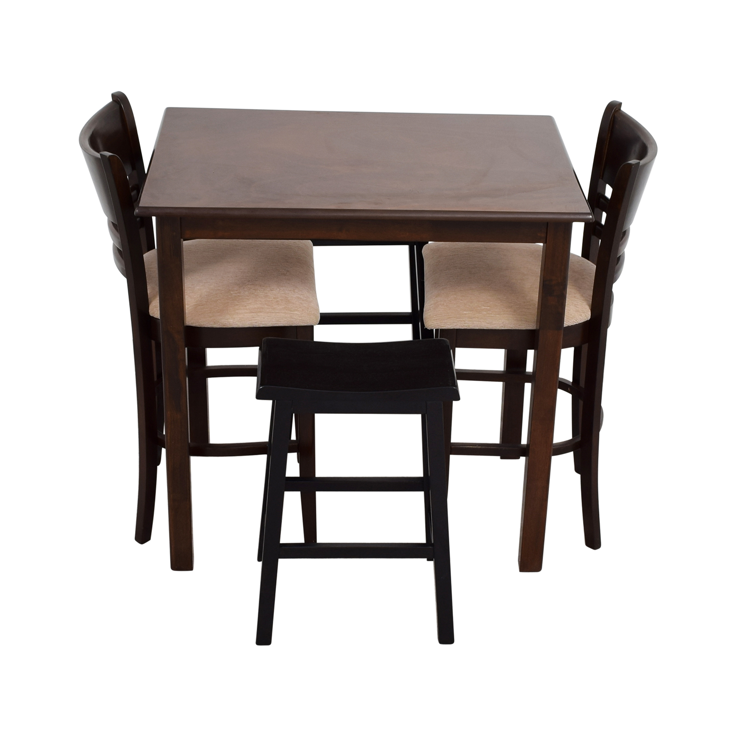 Simple Bar Table with Two Chairs and Two Stools second hand
