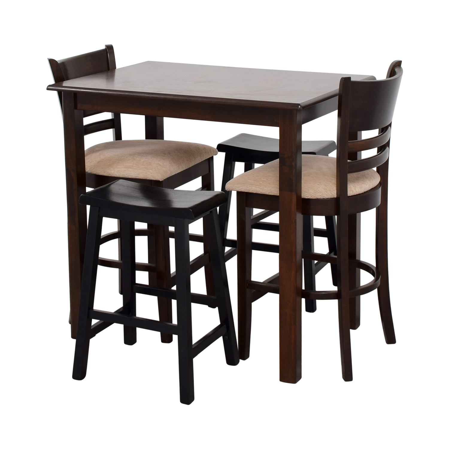 buy Simple Bar Table with Two Chairs and Two Stools online