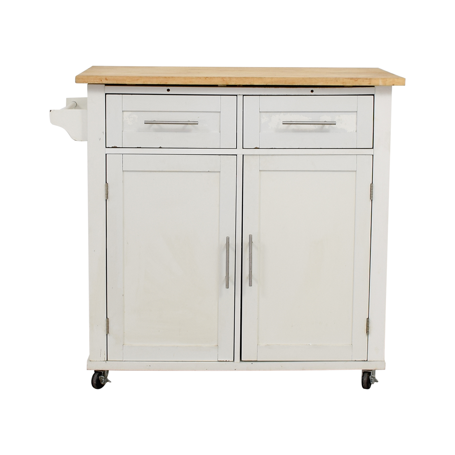 62% OFF - IKEA IKEA Varde Kitchen Butcher Block Island with Storage / Tables