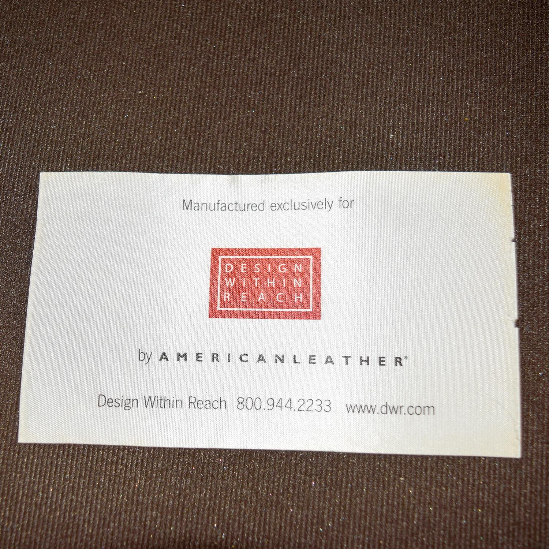 Design Within Reach Design Within Reach Tan Leather Three-Cushion Sofa nj