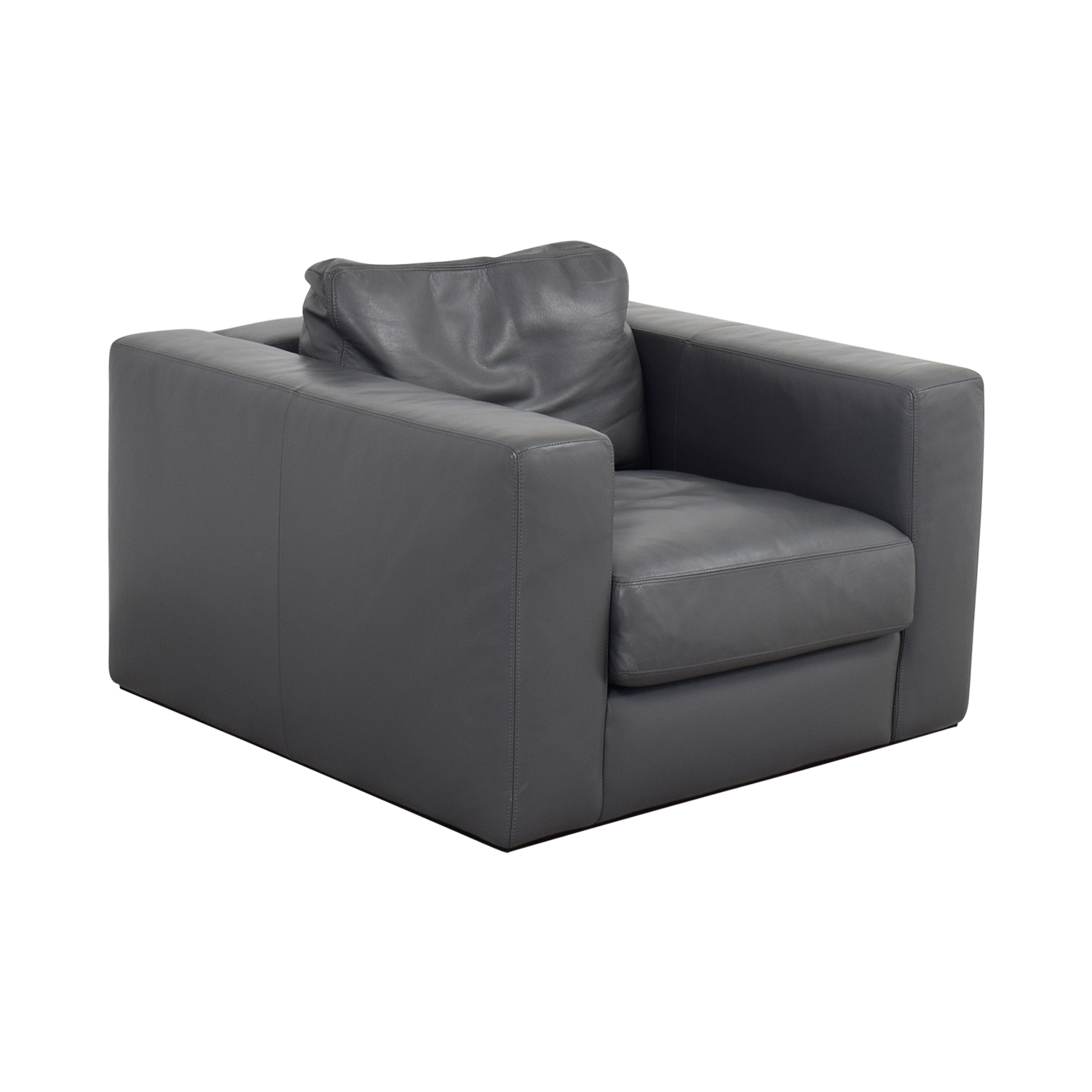 90 Off Design Within Reach Design Within Reach Grey Leather Sofa Chair Chairs