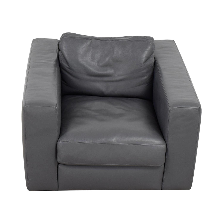 Peachy 90 Off Design Within Reach Design Within Reach Grey Leather Sofa Chair Chairs Machost Co Dining Chair Design Ideas Machostcouk