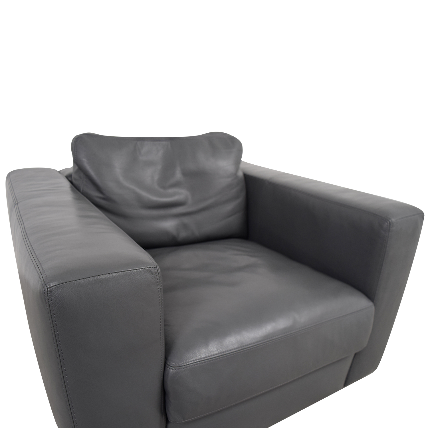 78 Off Design Within Reach Design Within Reach Grey Leather  ~ Brown Leather Sofa Chair