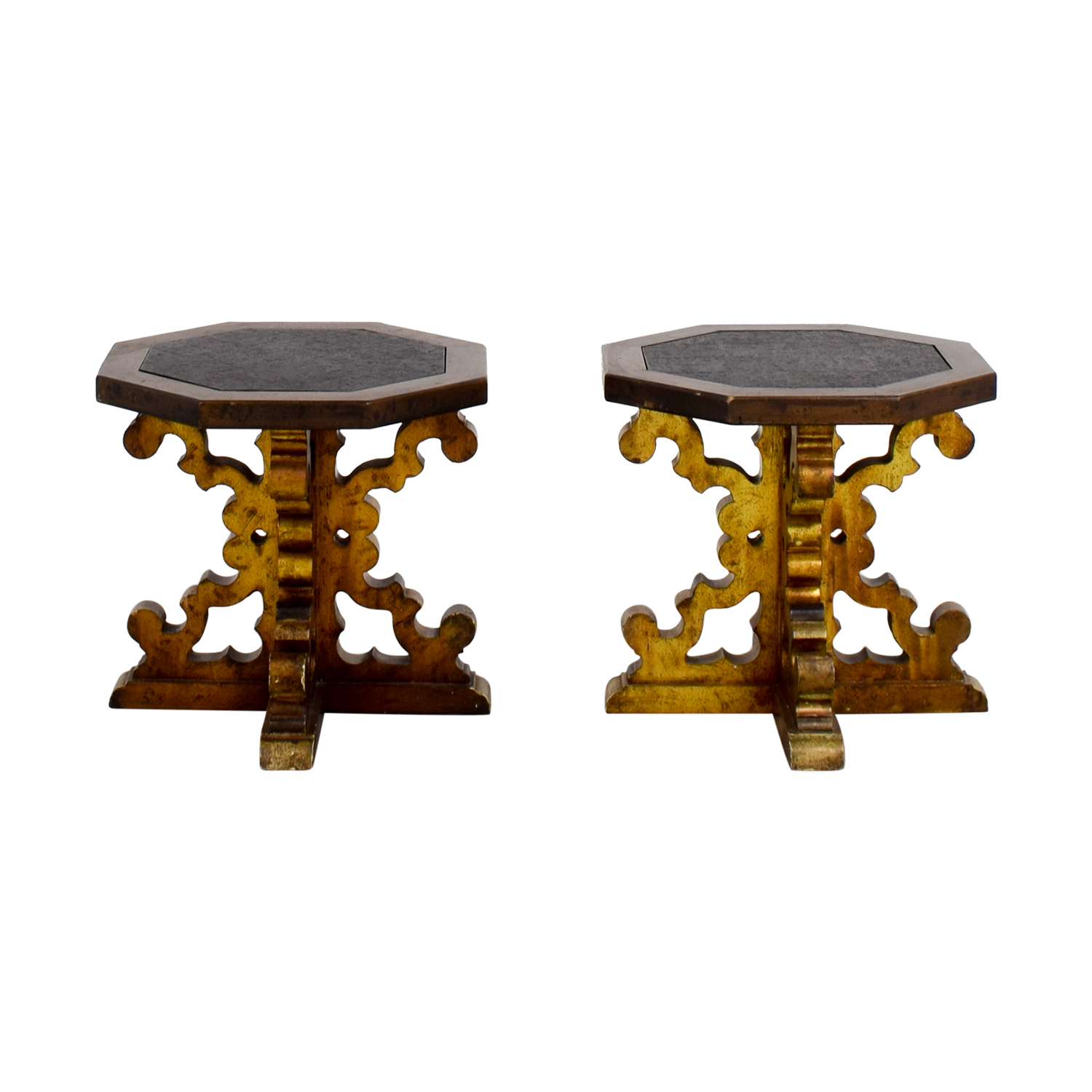 Vintage Stone Top Cocktail Tables