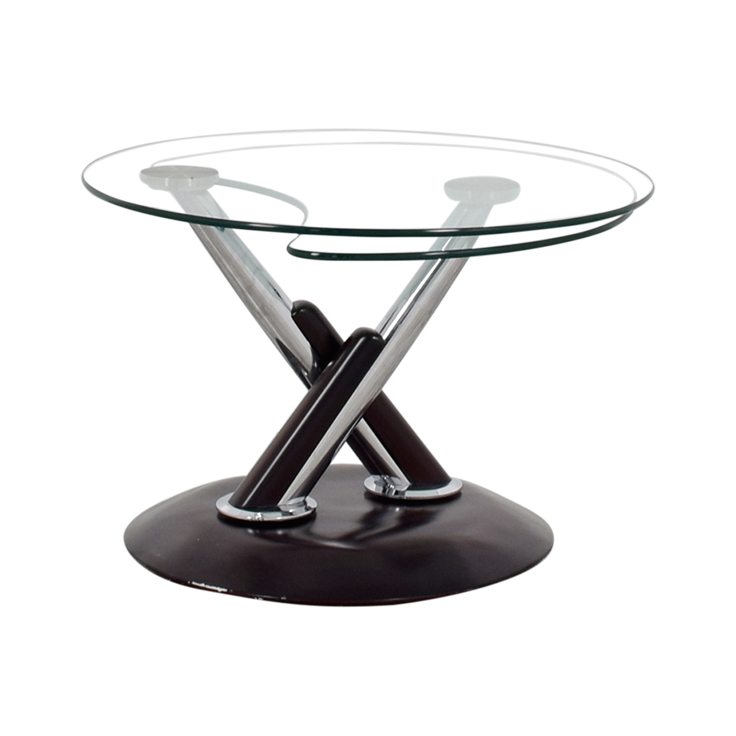 Rotating Glass Table discount