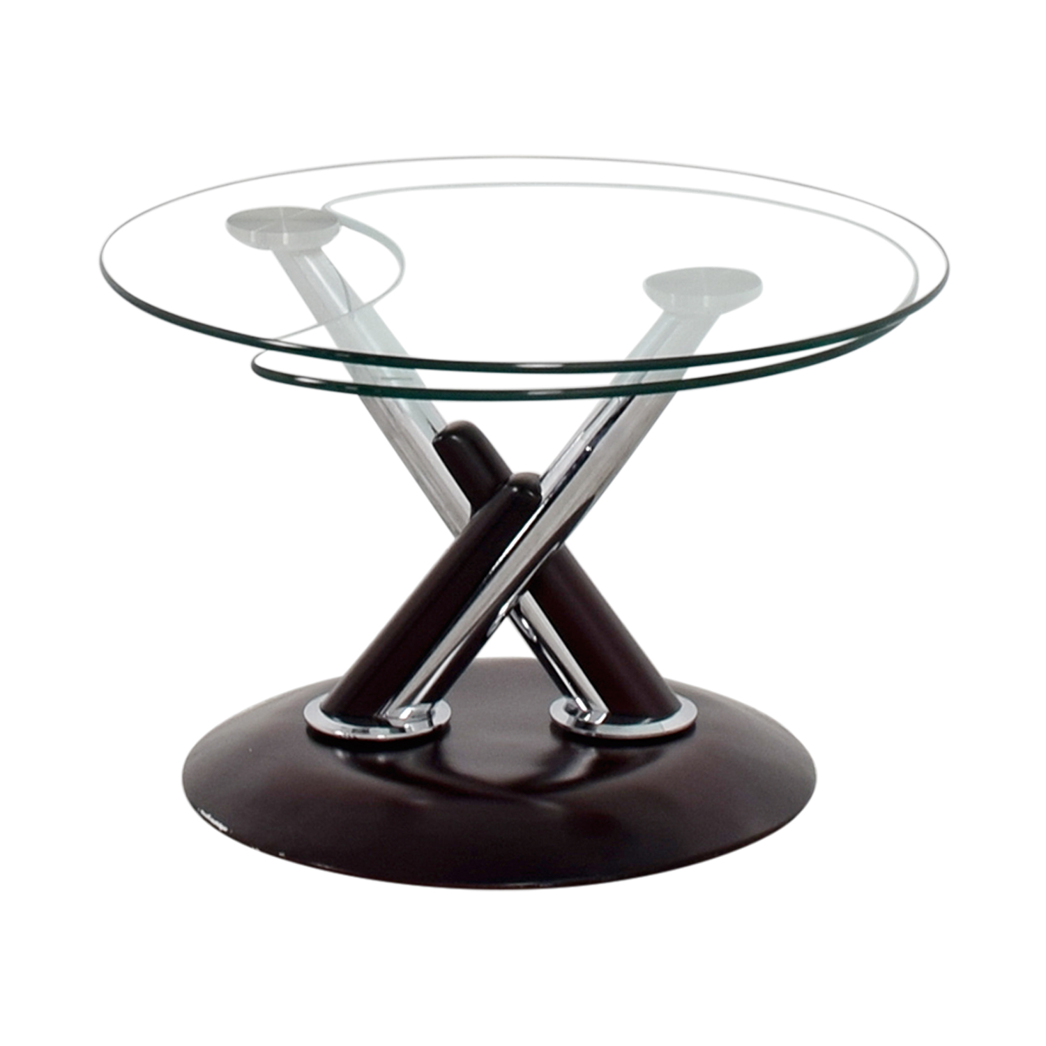 Rotating Glass Table second hand