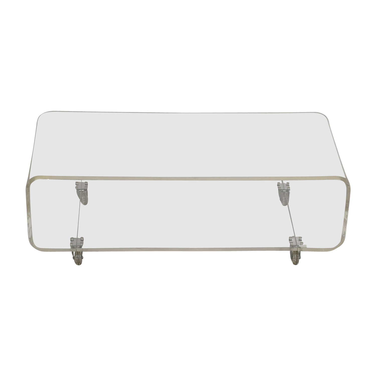 shop CB2 Peekaboo Acrylic Media Console CB2 Storage