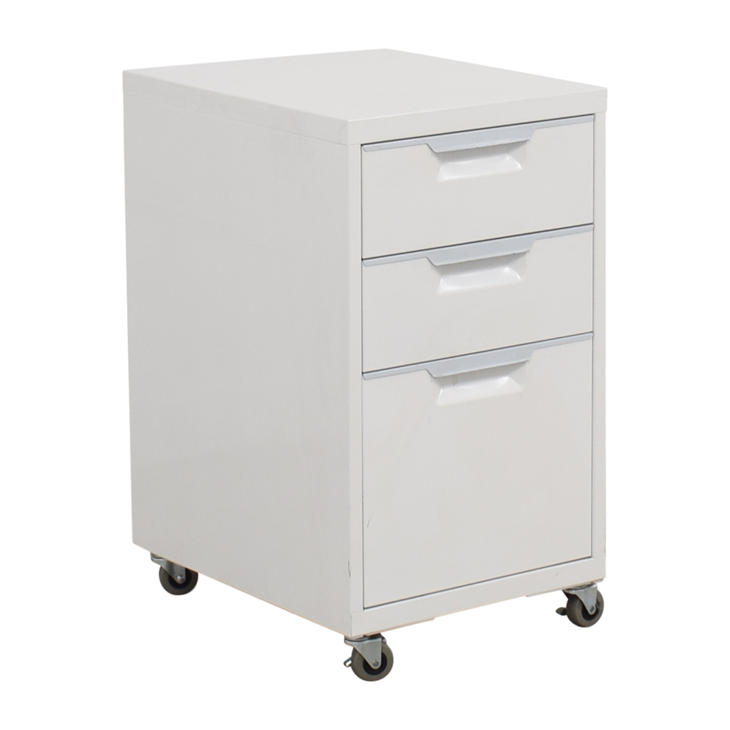 CB2 CB2 TPS White 3-Drawer Filing Cabinet second hand