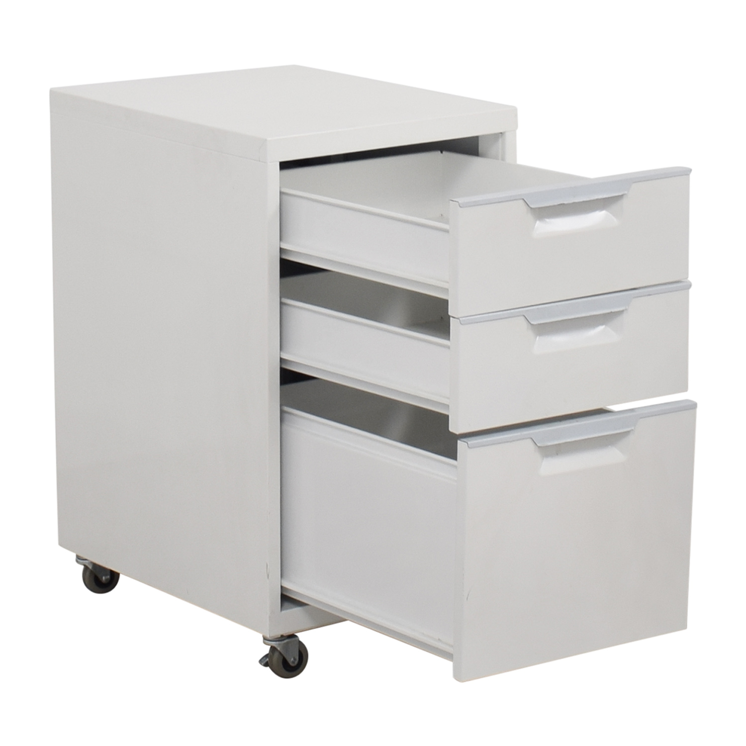 CB2 CB2 TPS White 3-Drawer Filing Cabinet nj