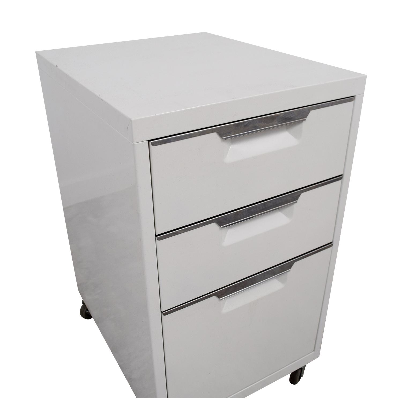 CB2 CB2 TPS White 3-Drawer Filing Cabinet nj