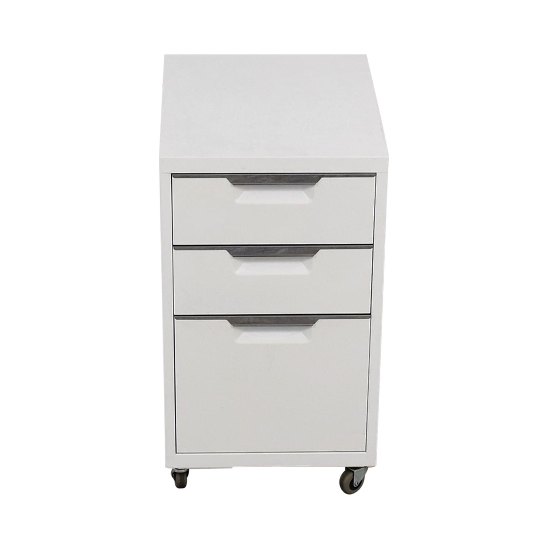 buy CB2 CB2 TPS White 3-Drawer Filing Cabinet online
