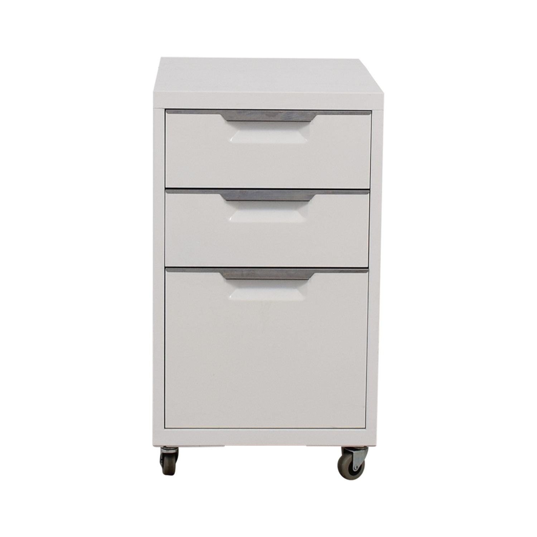 shop CB2 TPS White 3-Drawer Filing Cabinet CB2 Filing & Bins