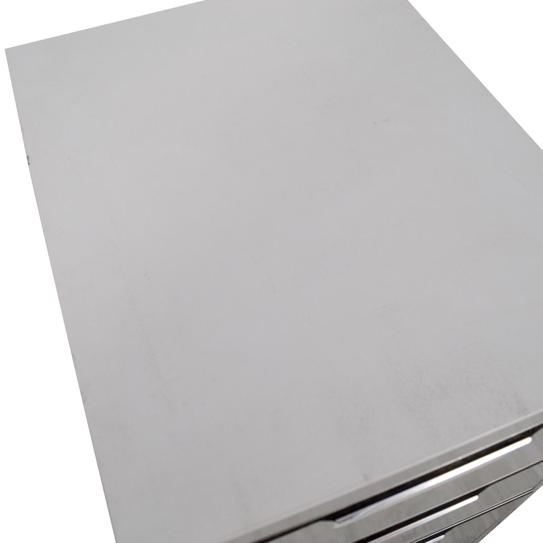 CB2 CB2 TPS White 3-Drawer Filing Cabinet nyc