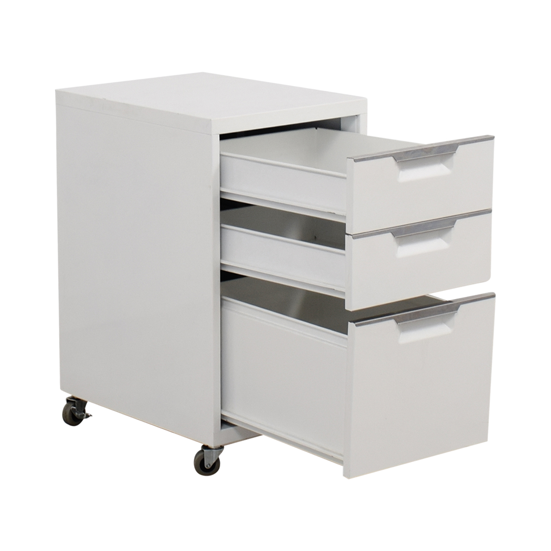 buy CB2 TPS White 3-Drawer Filing Cabinet CB2 Storage