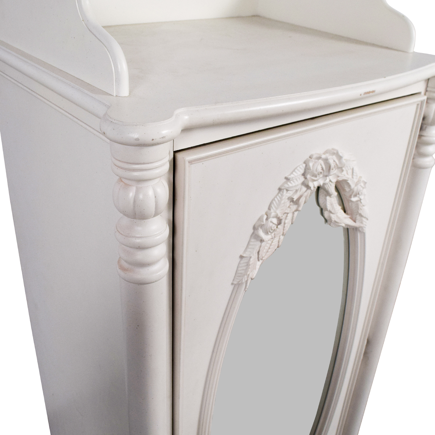 Stanley Home Furniture Stanley Home Furniture White Armoire with Exterior Mirror nyc