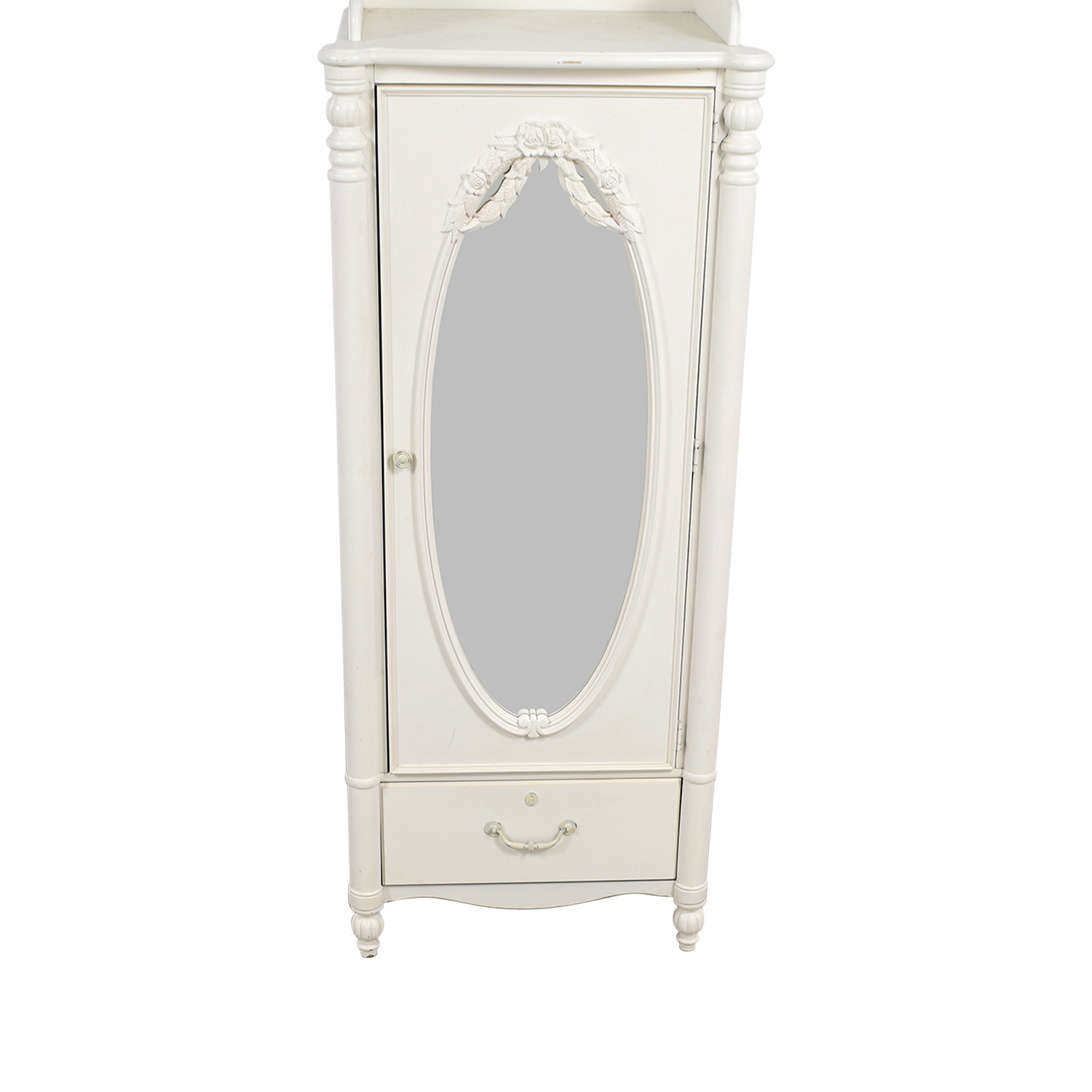 Stanley Home Furniture Stanley Home Furniture White Armoire with Exterior Mirror dimensions