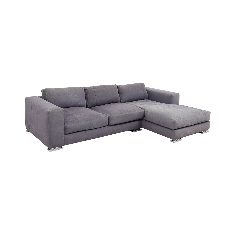 buy Environment Furniture Safia Sectional Grey Sofa Environment Furniture Sofas