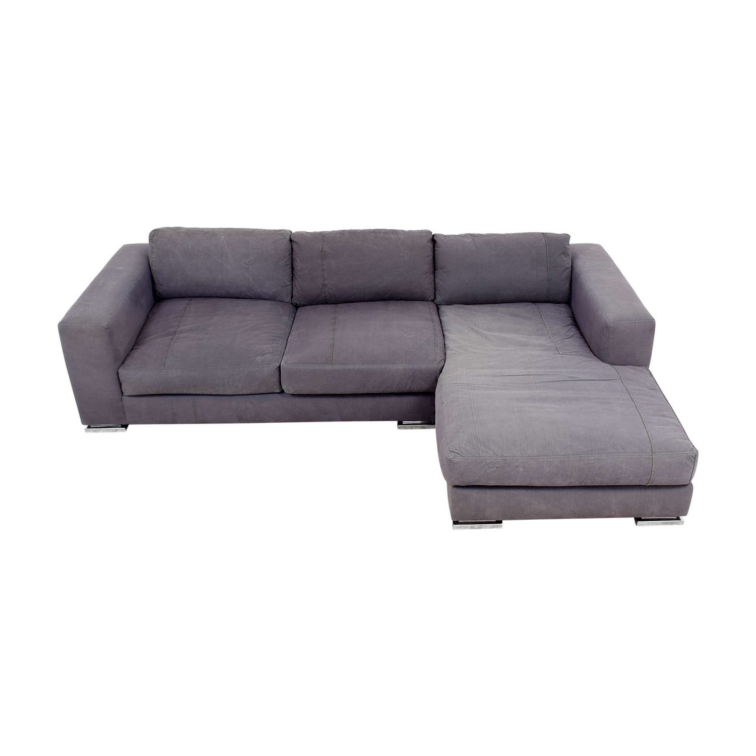 Environment Furniture Environment Furniture Safia Sectional Grey Sofa coupon