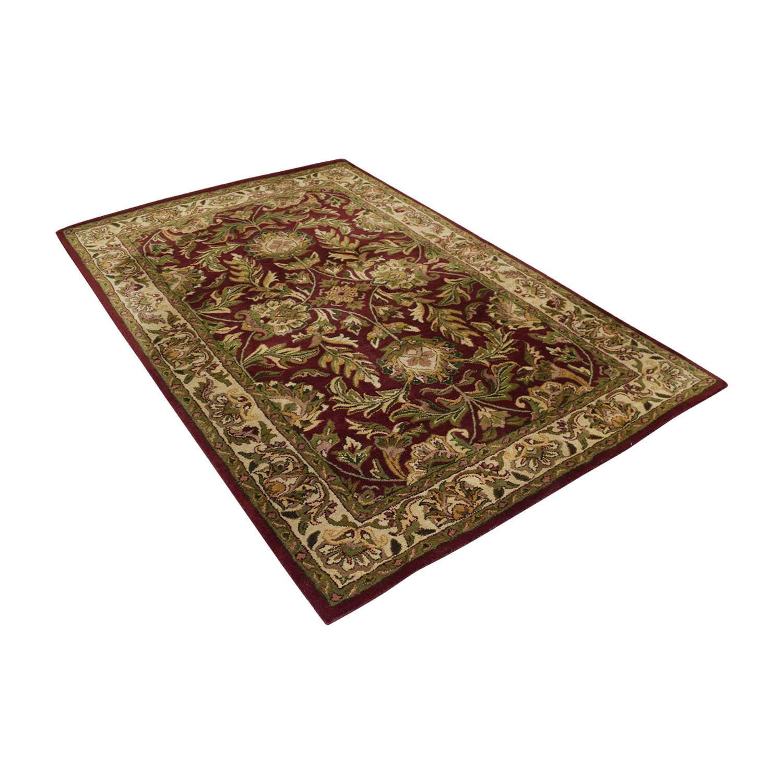 shop Surya Carpets Kaleen Wool Red Carpet Surya Carpets