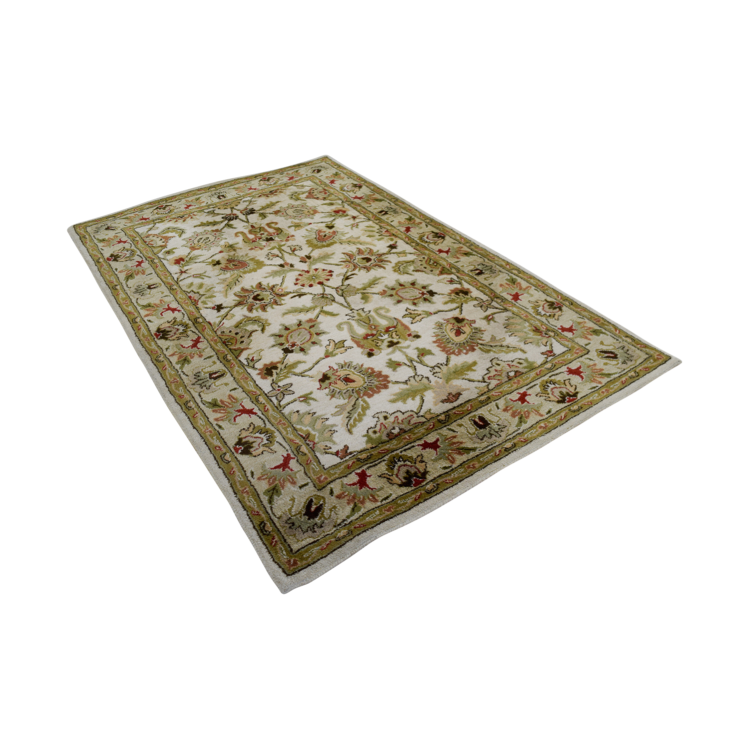 buy Surya Carpets Kaleen Ivory and Beige Wool Carpet Surya Carpets Rugs