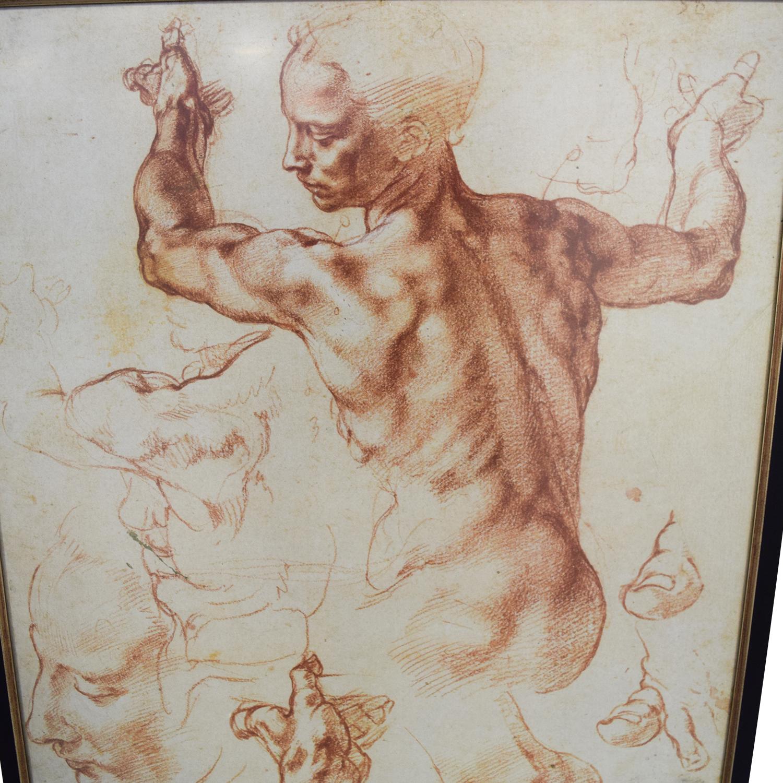 The Framing Workshop The Framing Workshop Leonardo da Vinci Sketch Poster discount