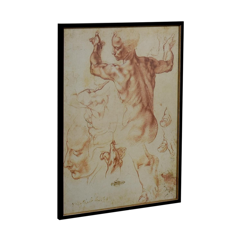 The Framing Workshop Leonardo da Vinci Sketch Poster The Framing Workshop