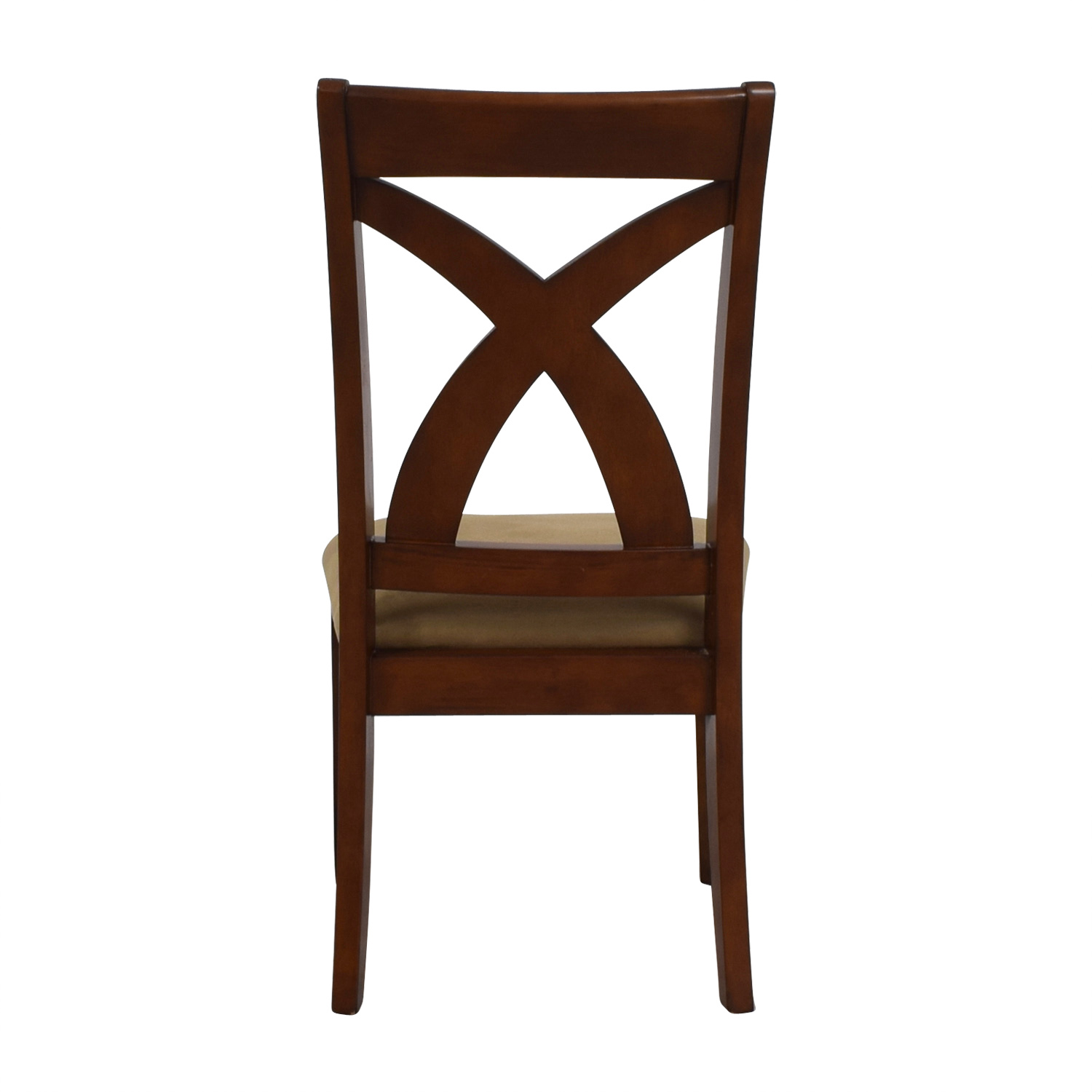 Cross Back Wood Chair with Padded Seat nyc
