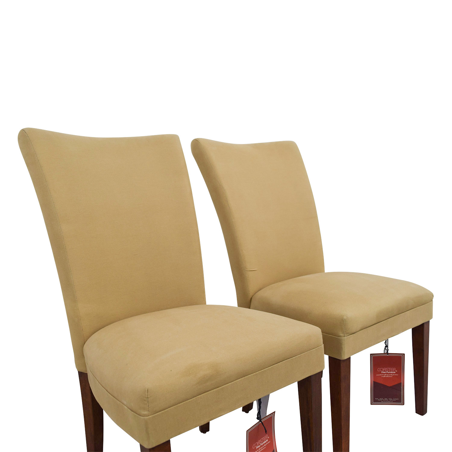 shop Coaster High Back Tan Chairs Coaster Dining Chairs