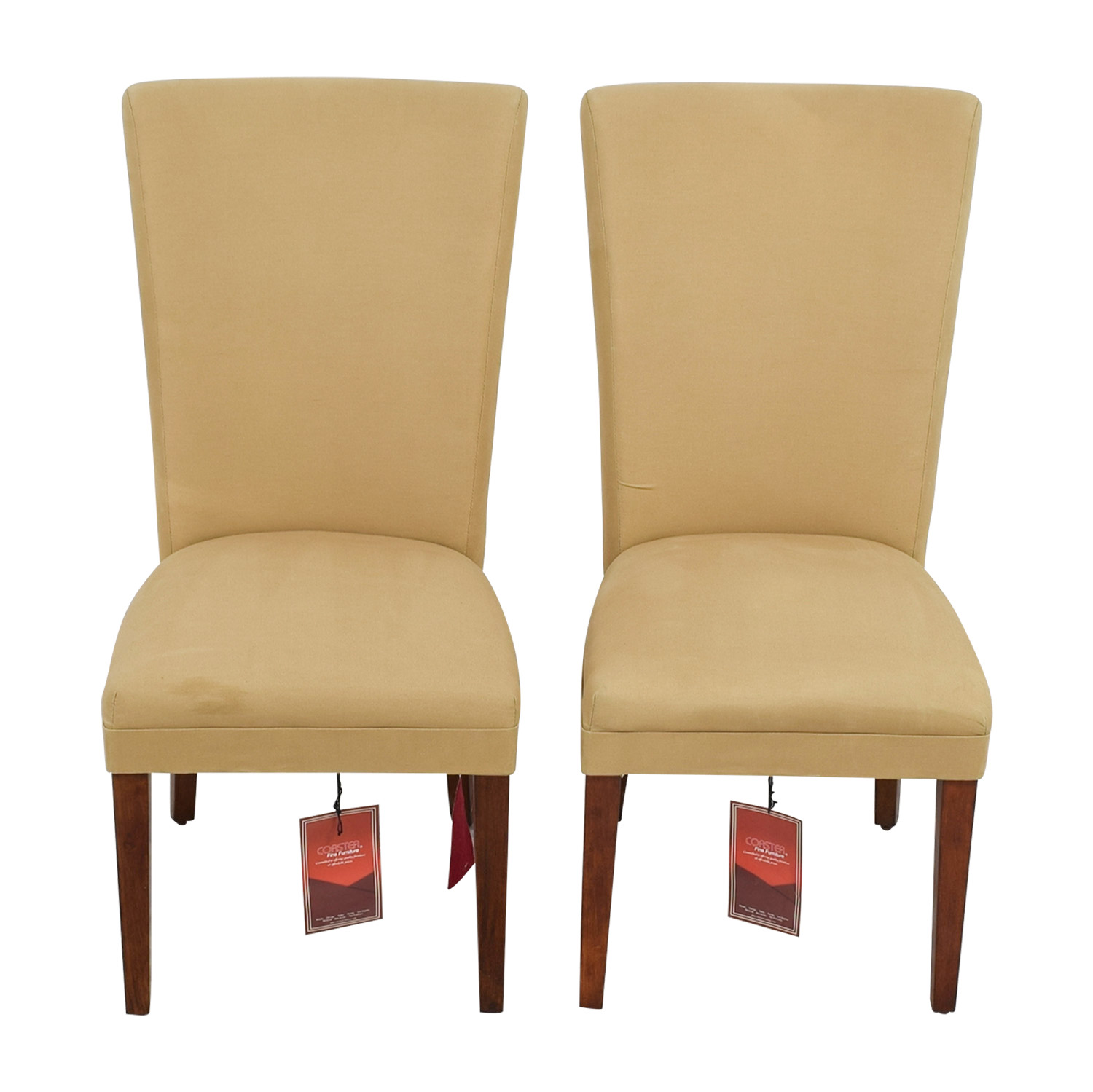 Coaster Coaster High Back Tan Chairs for sale