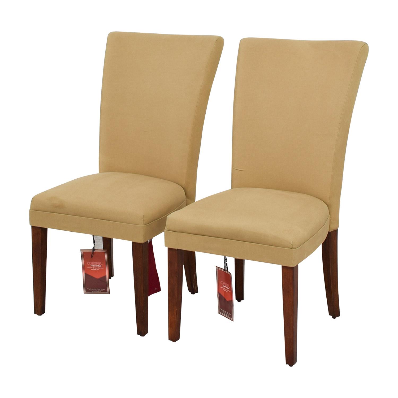 Coaster High Back Tan Chairs Coaster