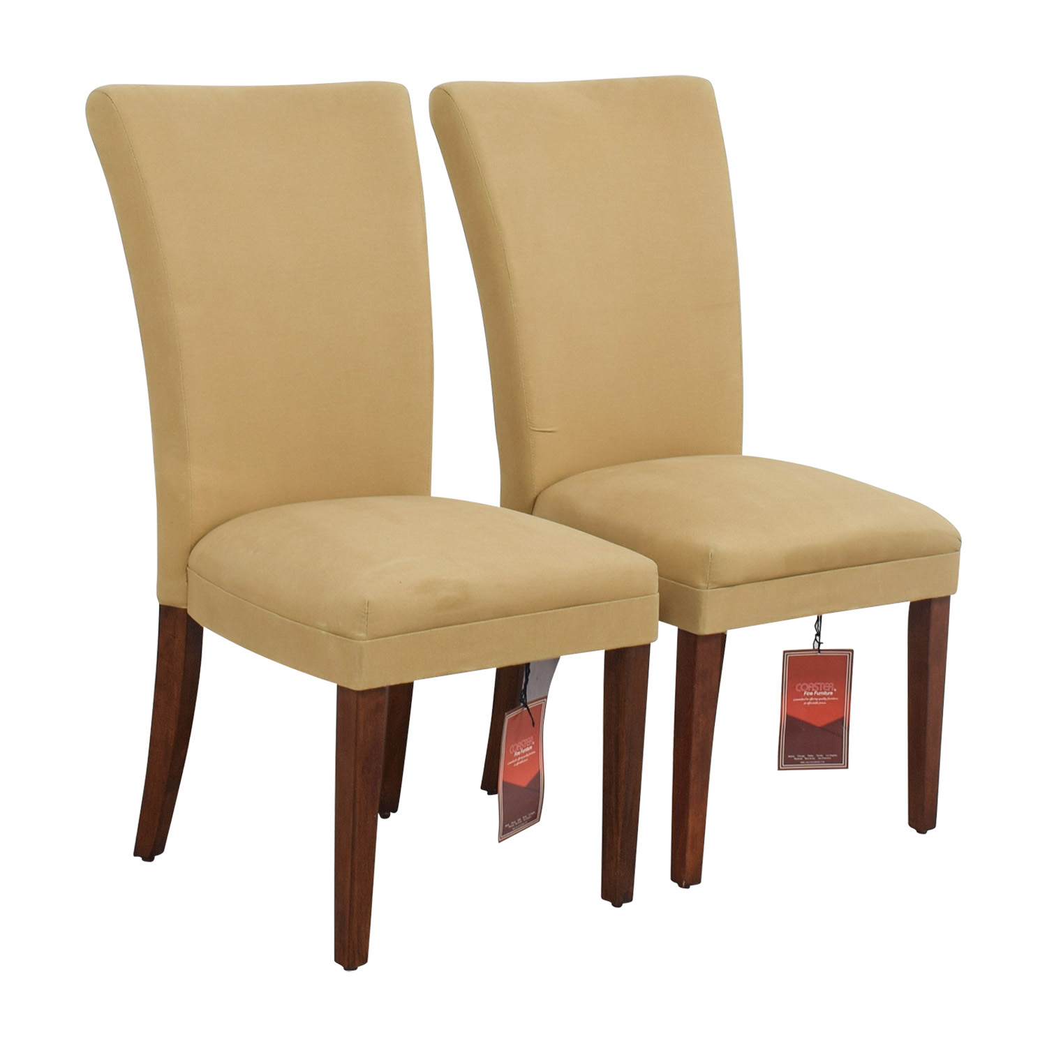 buy Coaster High Back Tan Chairs Coaster Dining Chairs
