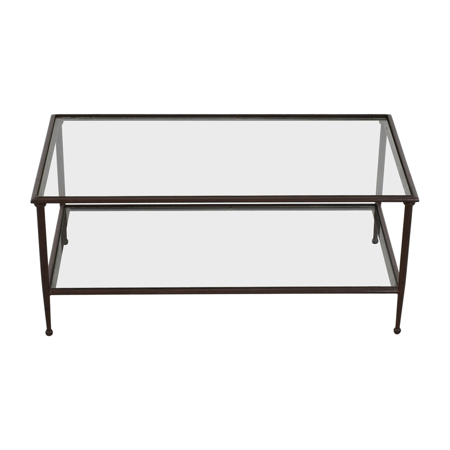 Delicieux 74% OFF   Crate U0026 Barrel Crate U0026 Barrel Glass U0026 Metal Coffee Table / Tables