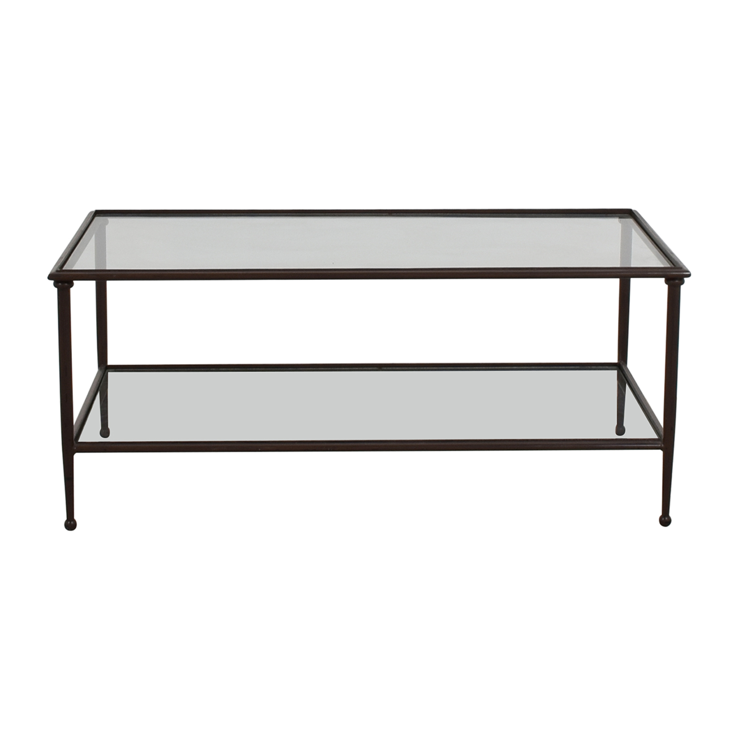 Crate & Barrel Glass & Metal Coffee Table / Tables