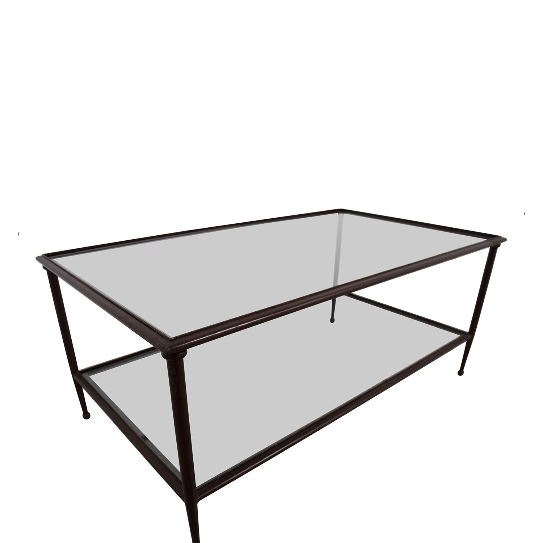 Crate & Barrel Crate & Barrel Glass & Metal Coffee Table Tables