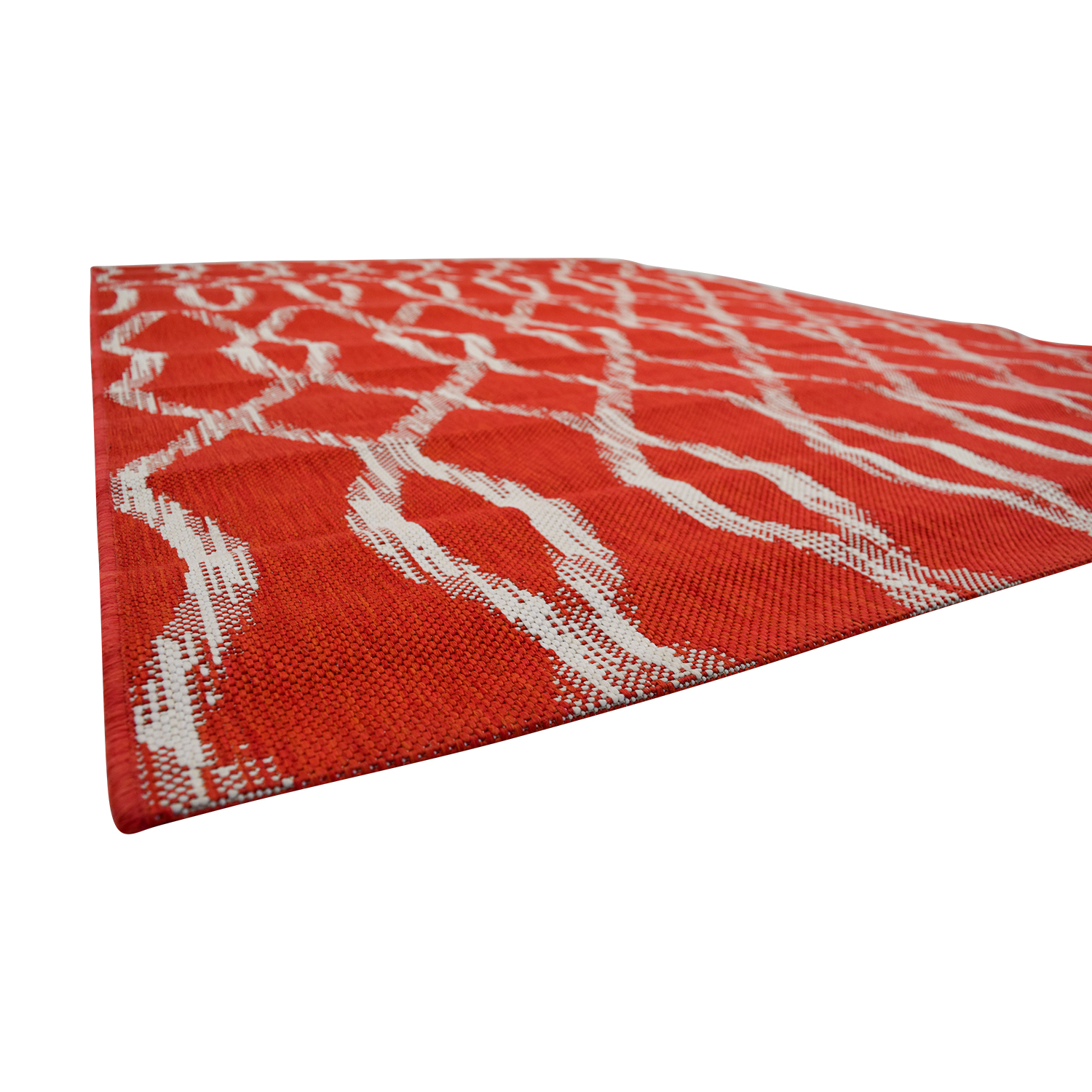 Crate & Barrel Crate & Barrel Indoor and Outdoor Red and White Rug coupon