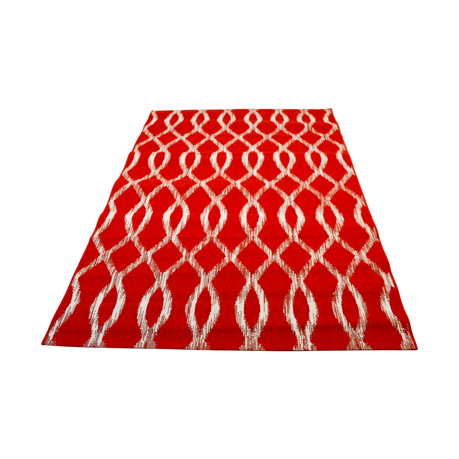 Crate & Barrel Crate & Barrel Indoor and Outdoor Red and White Rug Rugs