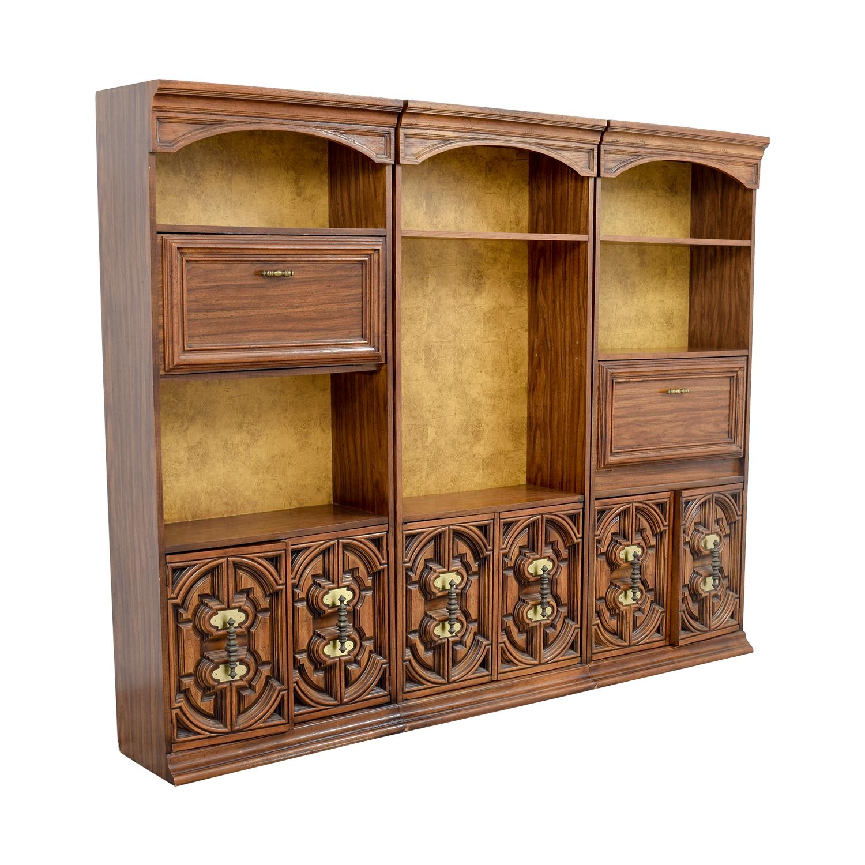 Vintage Three Piece Bookshelves