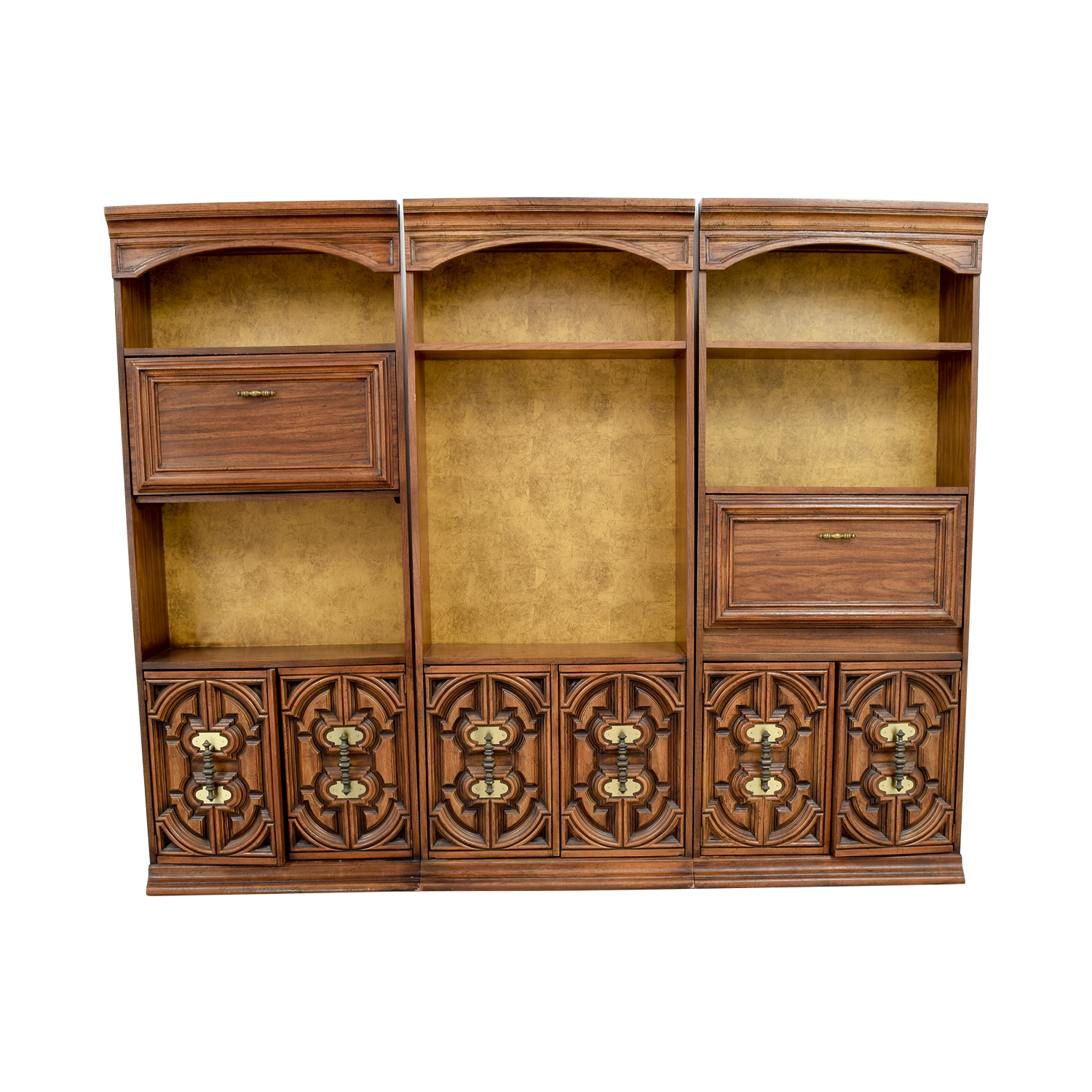 shop Vintage Three Piece Bookshelves Bookcases & Shelving