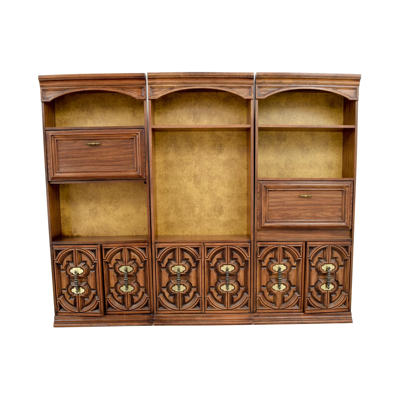 Vintage Three Piece Bookshelves / Bookcases & Shelving