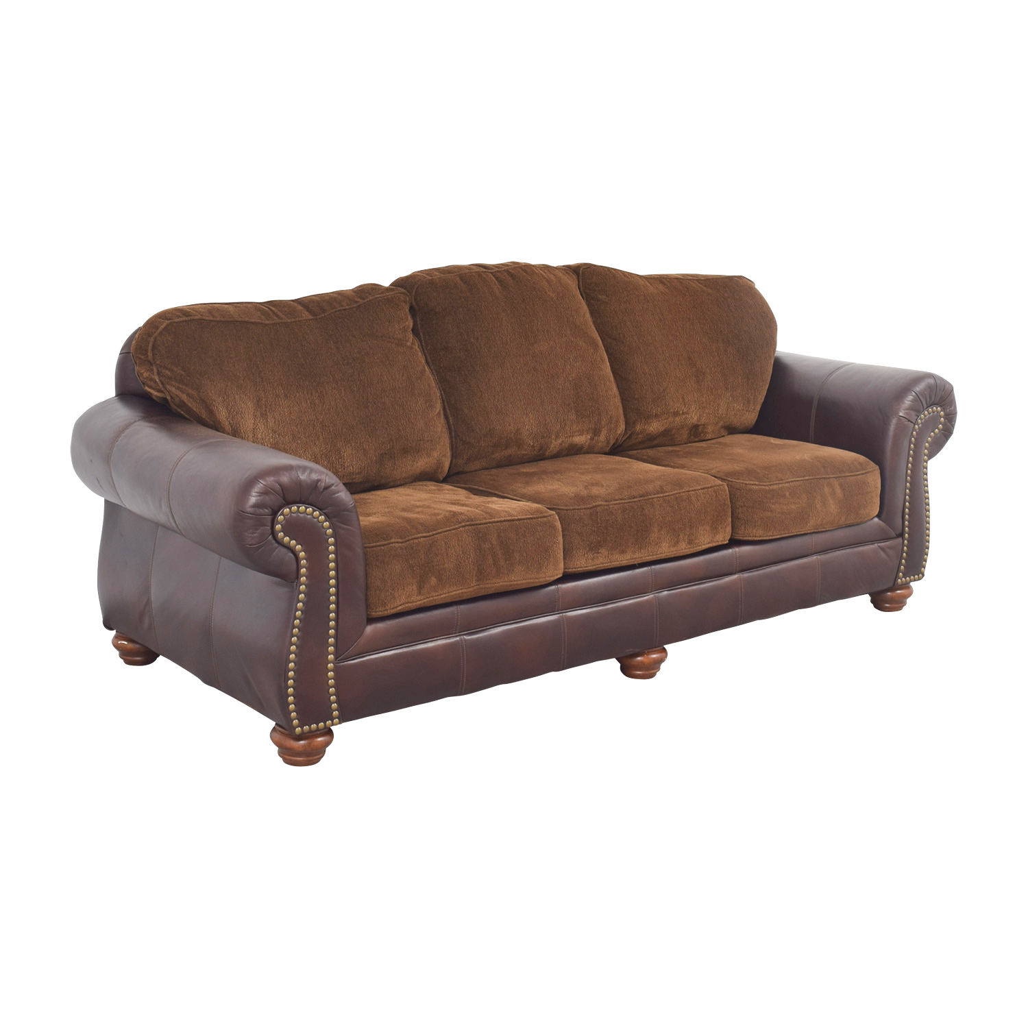 90 Off Simmons Simmons Sofa With Leather Arms Sofas