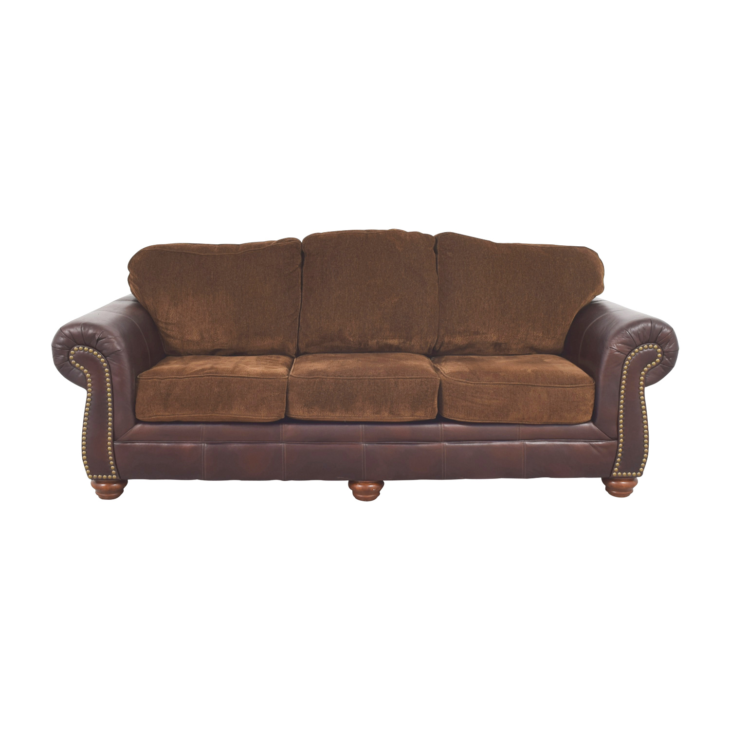 buy Simmons Simmons Sofa with Leather Arms online