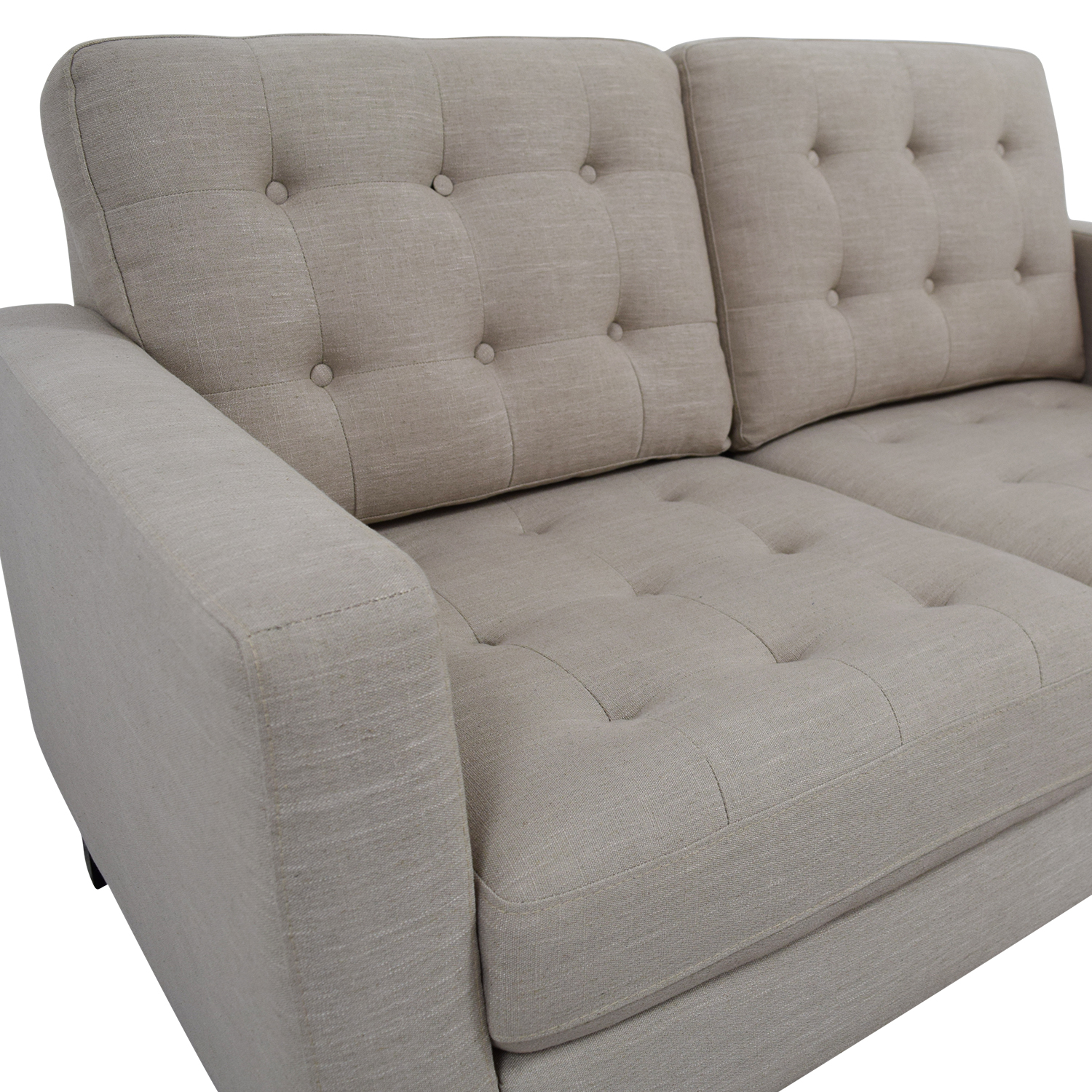 Pier 1 Imports Pier 1 Imports Nyle Putty Tufted Loveseat discount